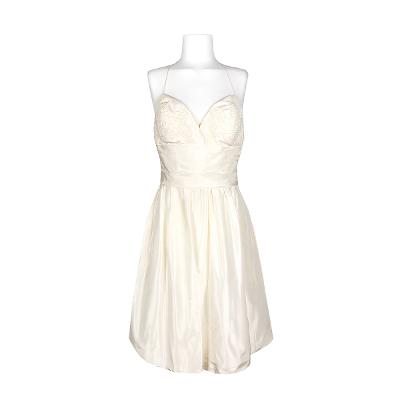 floral embroidery dress ivory